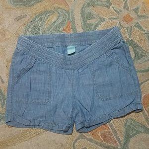 NWOT Old Navy size L maternity jean shorts